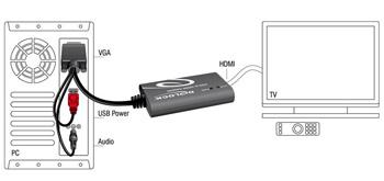 delock adaptador vga a hdmi con audio  62408
